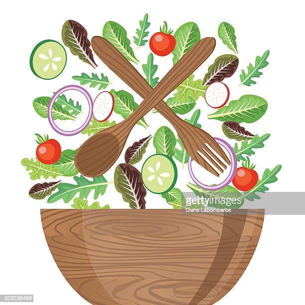 Salad Bowl Stock Illustrations And Cartoons | Getty Images