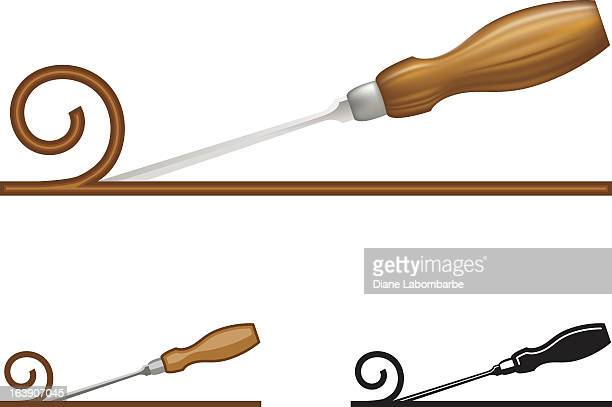 wood chisel icon - carpenter stock illustrations