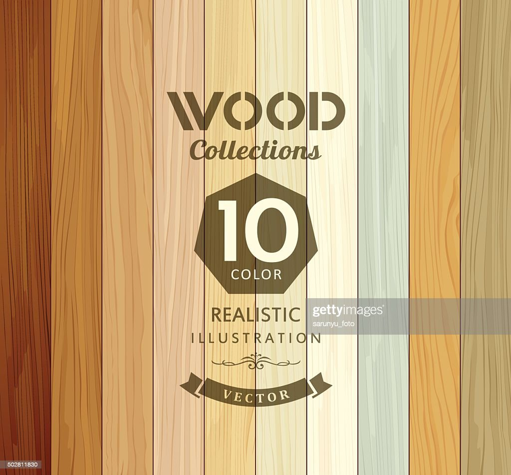 Wood collections colored ten realistic texture