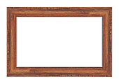 Wood frame isolated on white background. Vector illustration eps 10