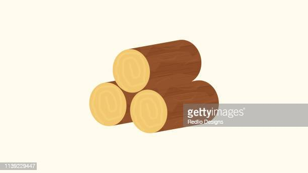 wood icon - log stock illustrations