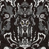 Wood owl camouflage pattern