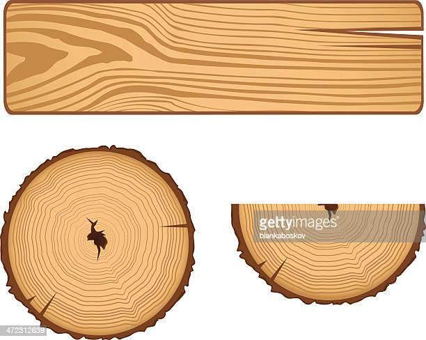 wood parts - tree bark stock illustrations, clip art, cartoons, & icons