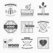 Wood products icons