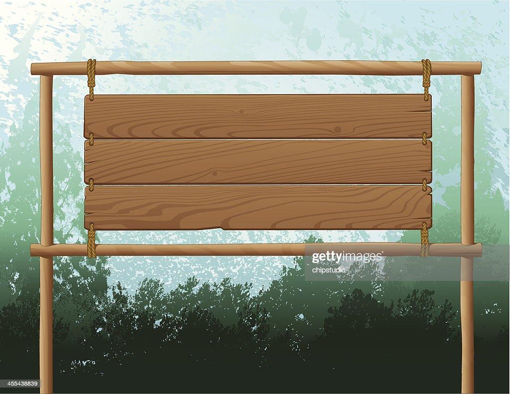 Wood Sign Background : stock illustration