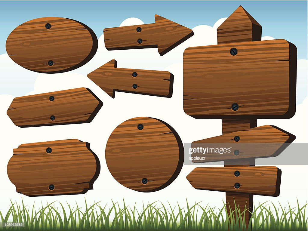Wood Signs : stock illustration