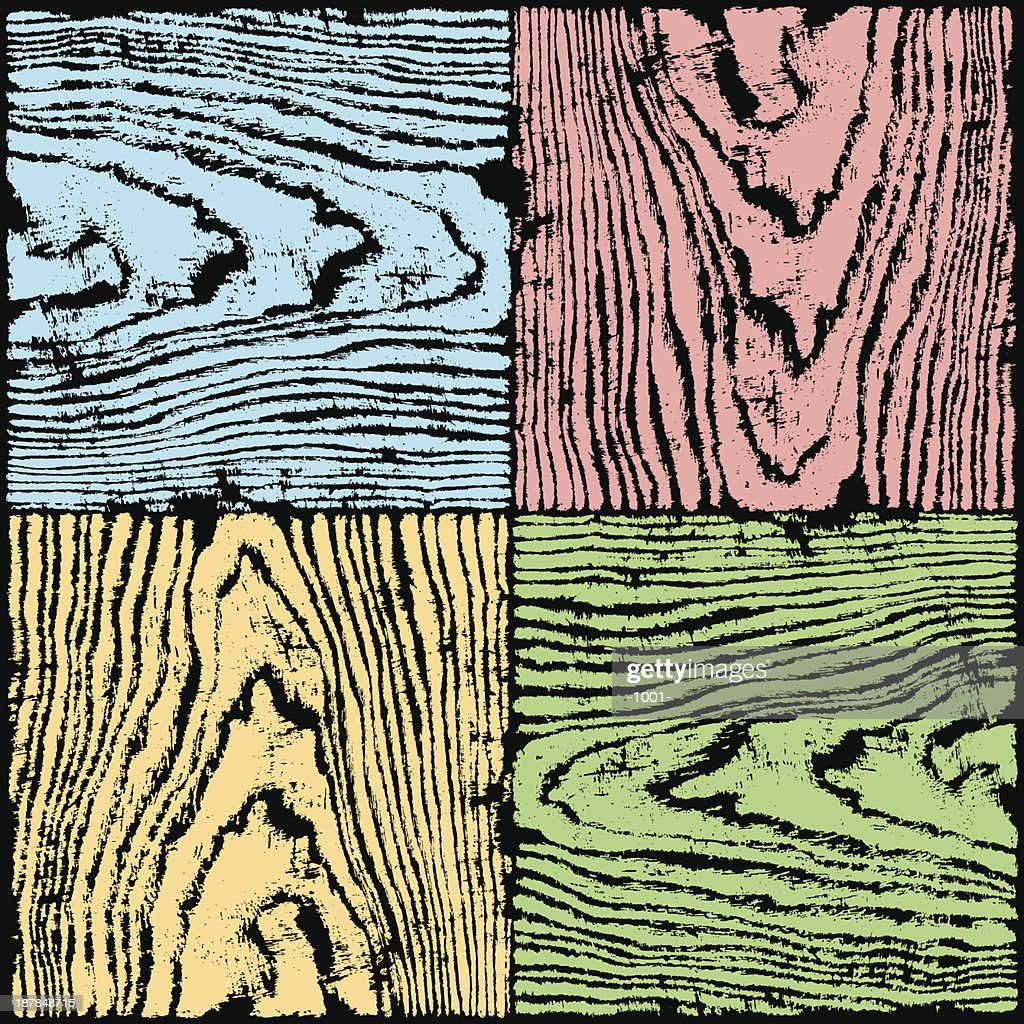 Wood Texture Blue Red Yellow Green Color Natural Pattern Background ...