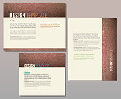 Wood texture presentation template set with sample text layout