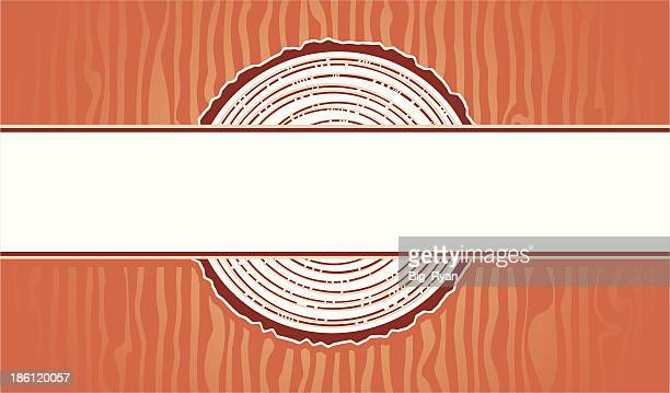 wood workers business card - tree rings stock illustrations, clip art, cartoons, & icons