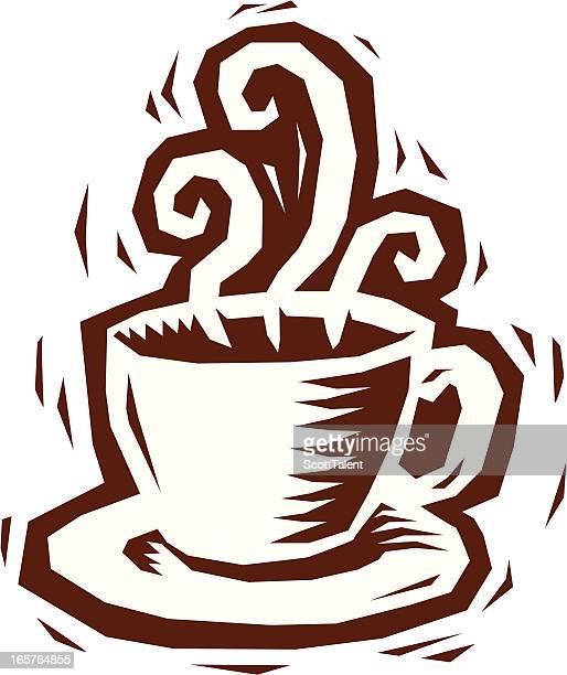 Woodcut Coffee Cup