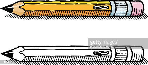 woodcut pencil - pencil stock illustrations, clip art, cartoons, & icons