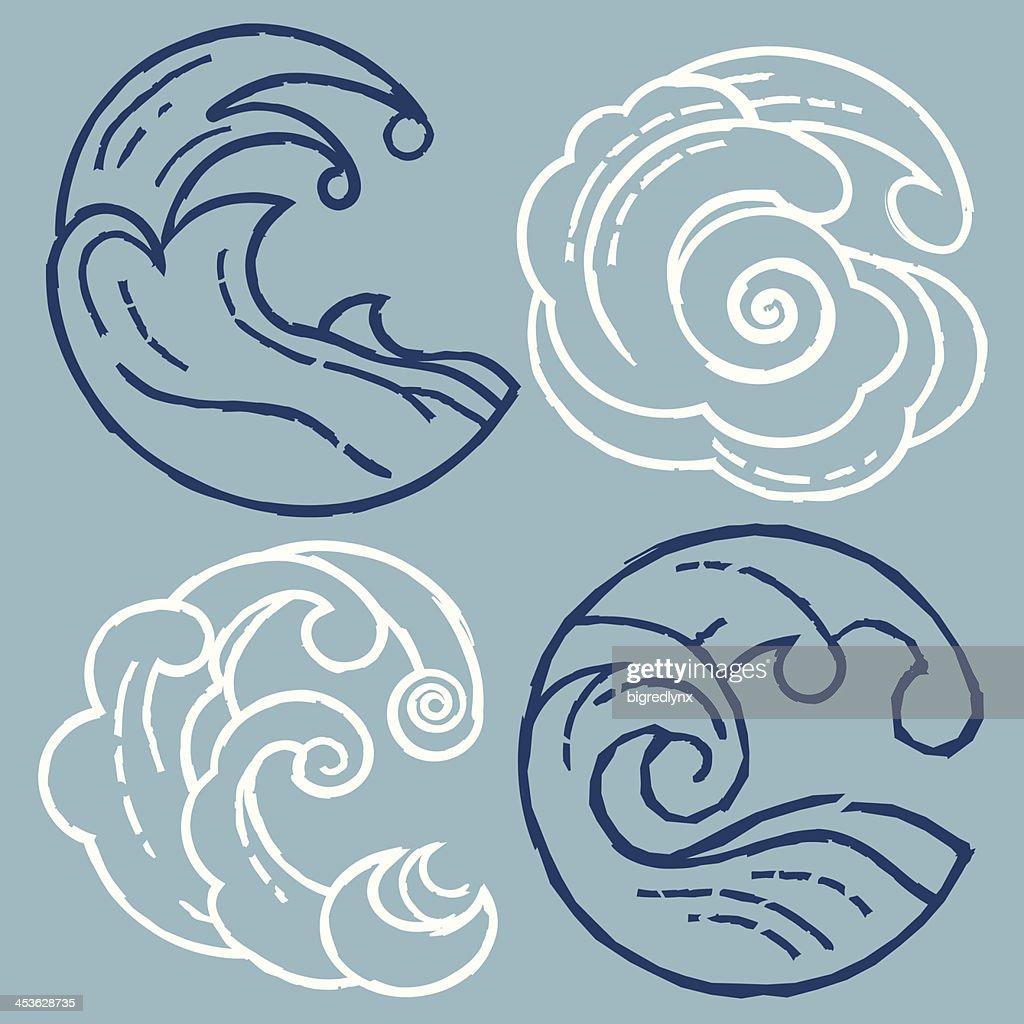 Woodcut Waves