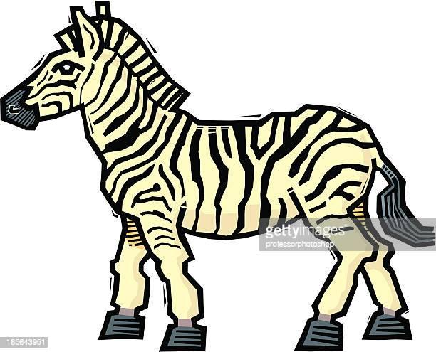 Woodcut Zebra