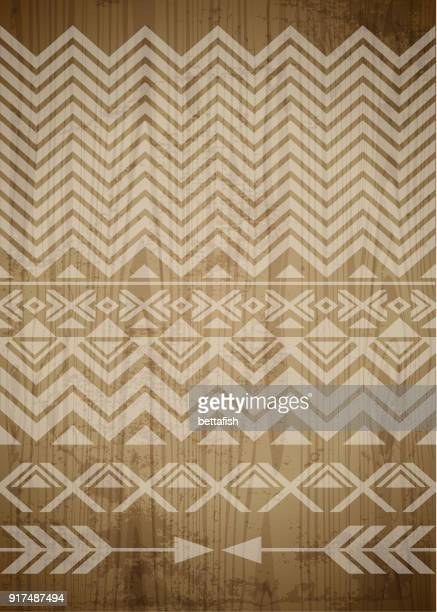 wooden abstract backgrounds - indigenous culture stock illustrations