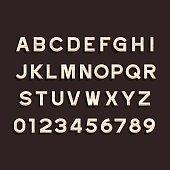 Wooden Alphabet Vector Font