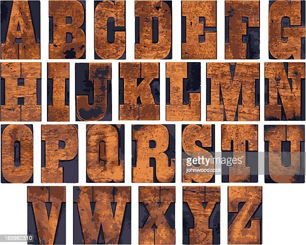 木製のアルファベット - アルファベット順点のイラスト素材/クリップアート素材/マンガ素材/アイコン素材