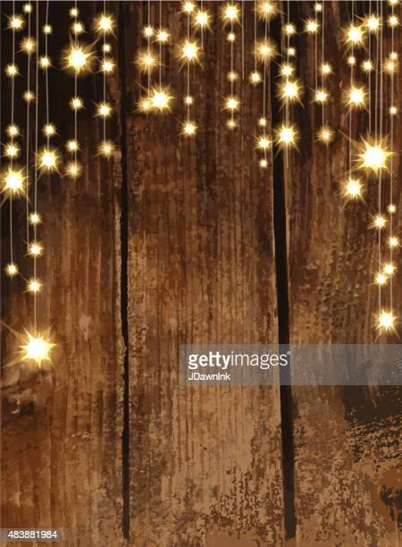 Leere Einladung design-Vorlage mit string lights