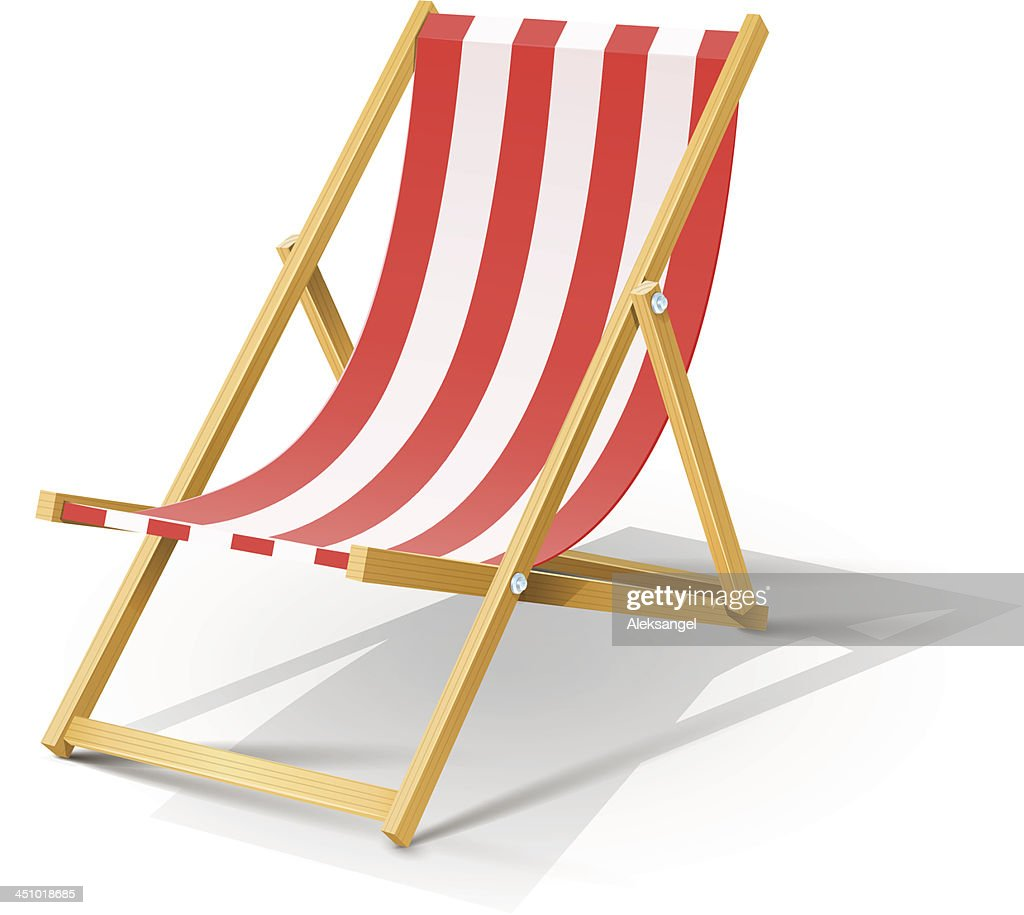 wooden beach chaise longue