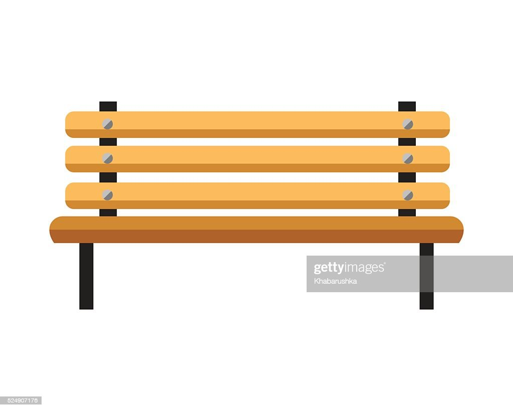 Wooden bench. Isolated on white background