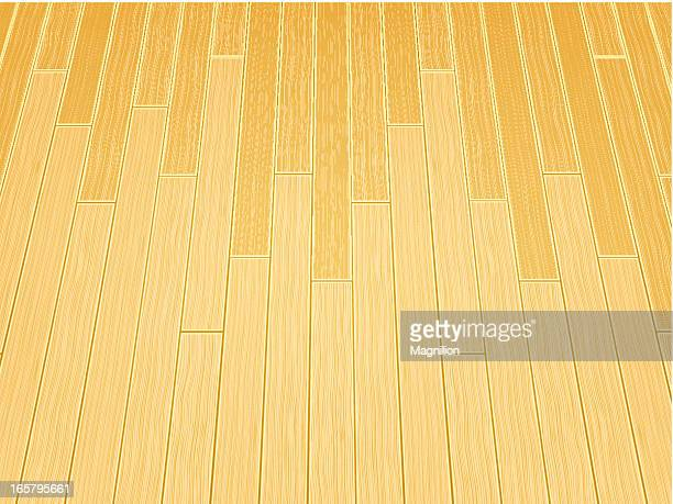 wooden boards - sports hall stock illustrations