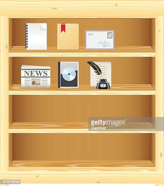 Hölzerne Bücherregal/DVD-Ständer für Ihre Anmeldungen