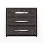 Wooden Chest of Drawers Black