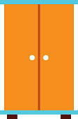 wooden closet isolated icon