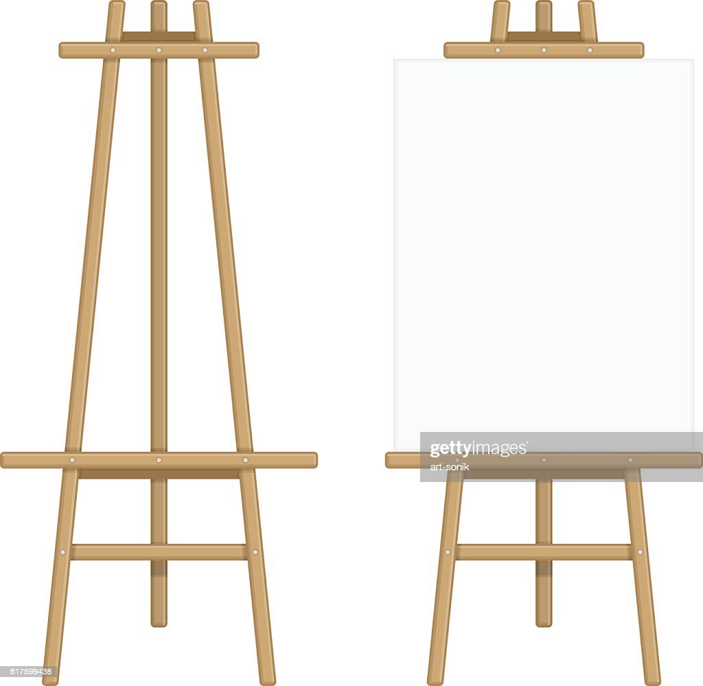 Wooden easel template.
