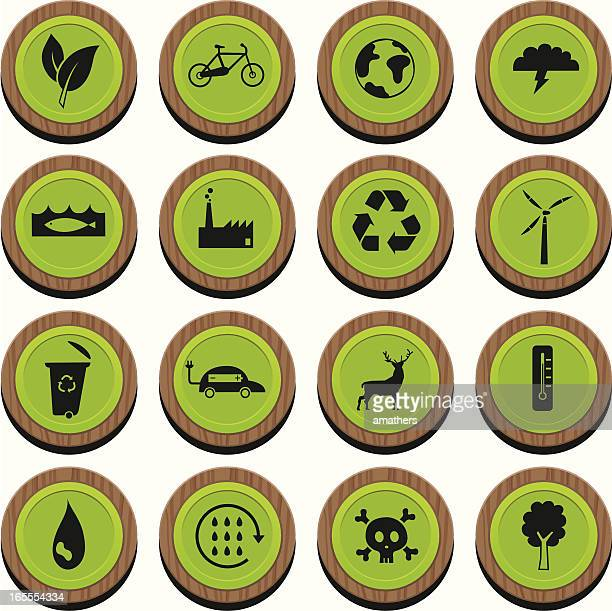 wooden envirocons - water cycle stock illustrations, clip art, cartoons, & icons
