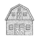 Wooden farming barn