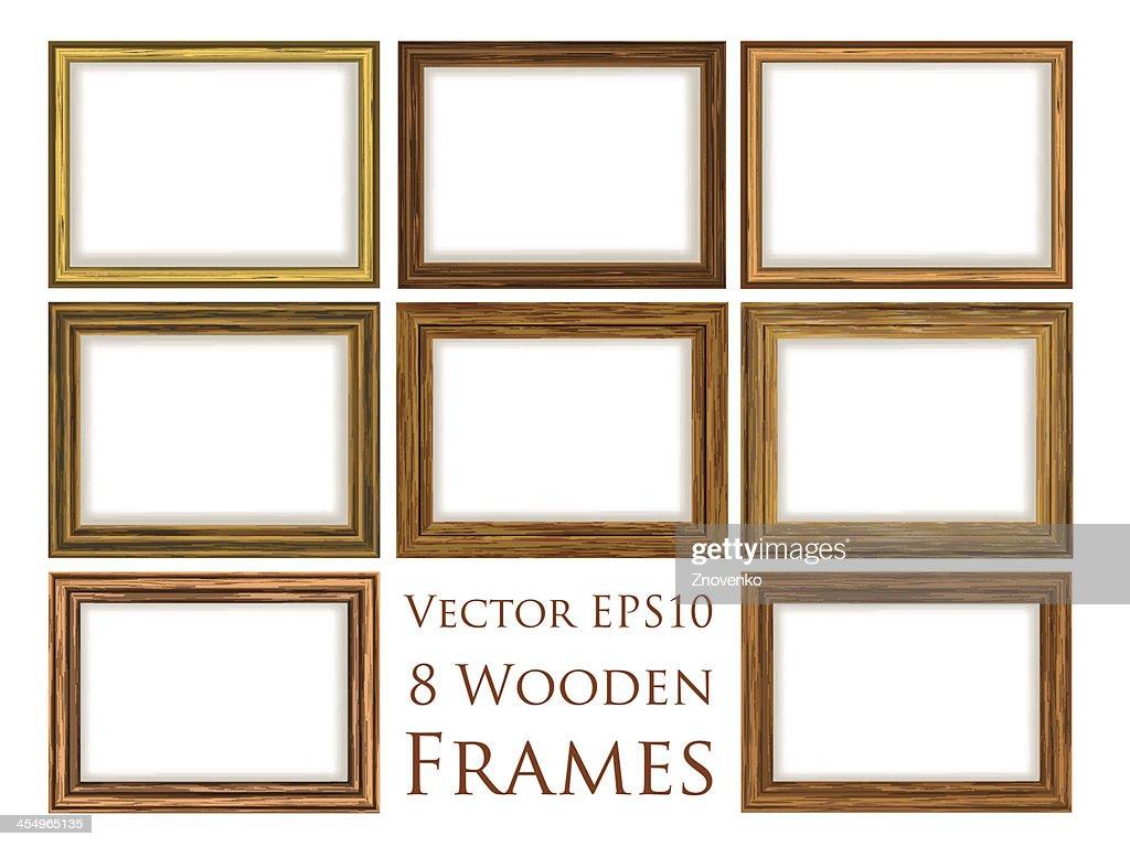 Wooden frame set.