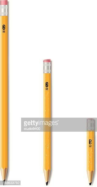 Wooden #2 HB pencils