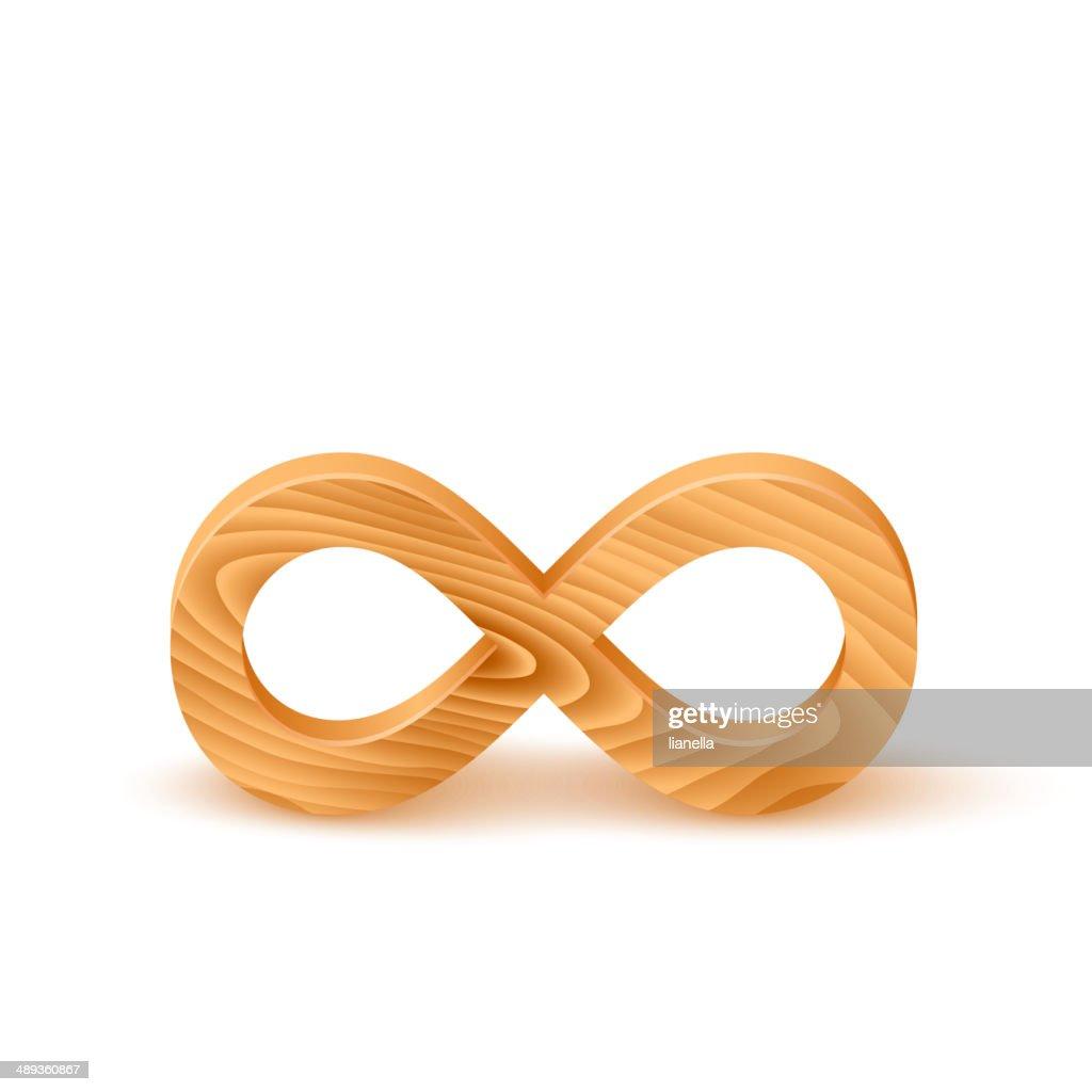 Wooden Infinity Symbol