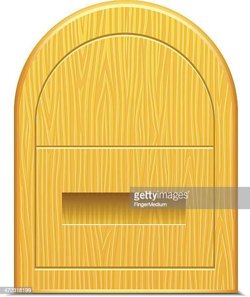 Hölzerne Briefkasten