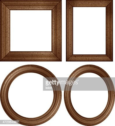 Wooden Picture Frames Vector Art Getty Images