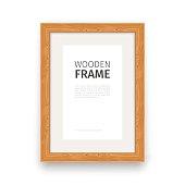 Wooden Rectangle Frame Natural