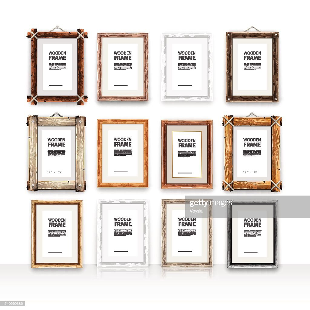 Wooden Rectangle Frames Set