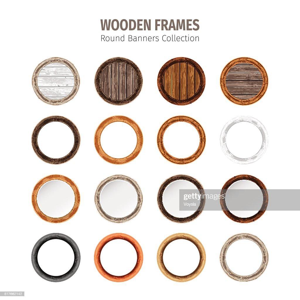 Wooden Round Frames Set