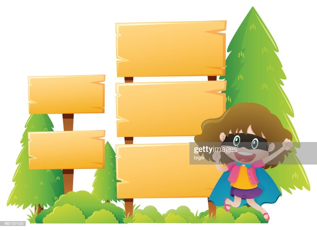 wooden sign template with girl wearing mask vector art getty images