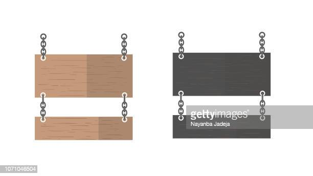 wooden signpost, signboard, name plate - west direction stock illustrations