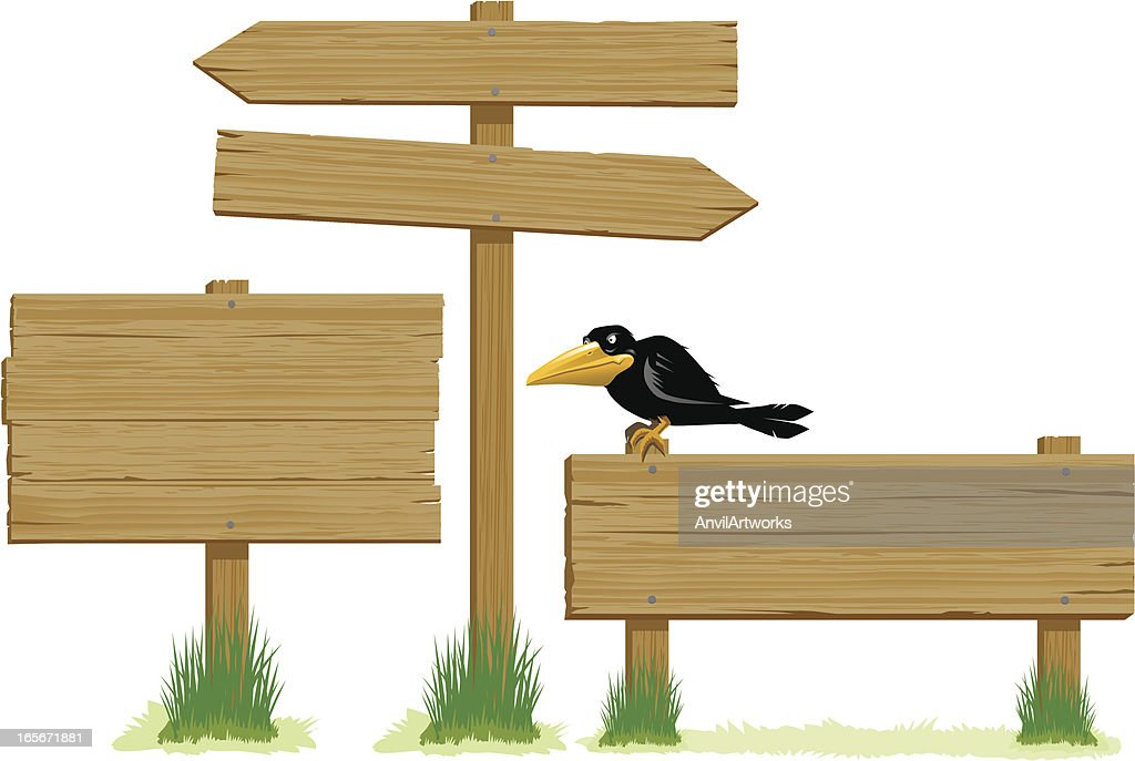 Wooden Signs : stock illustration