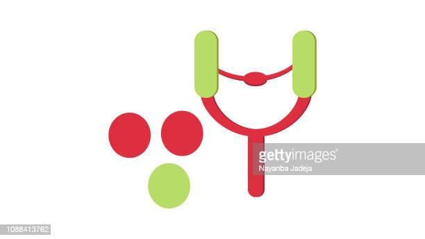 Wooden slingshot icon