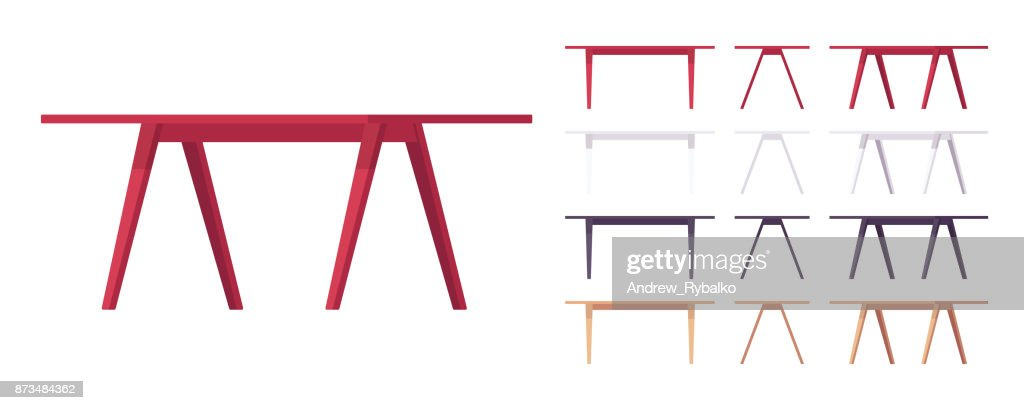 Wooden table furniture set