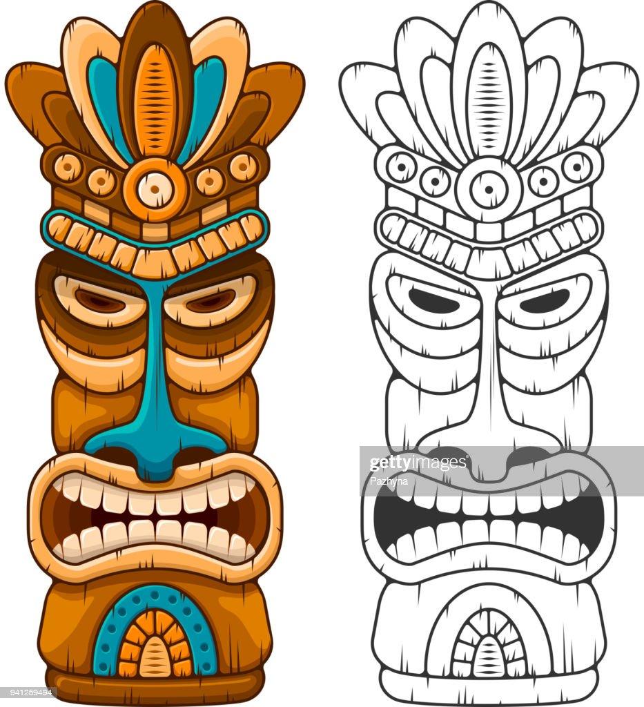Wooden Tiki mask