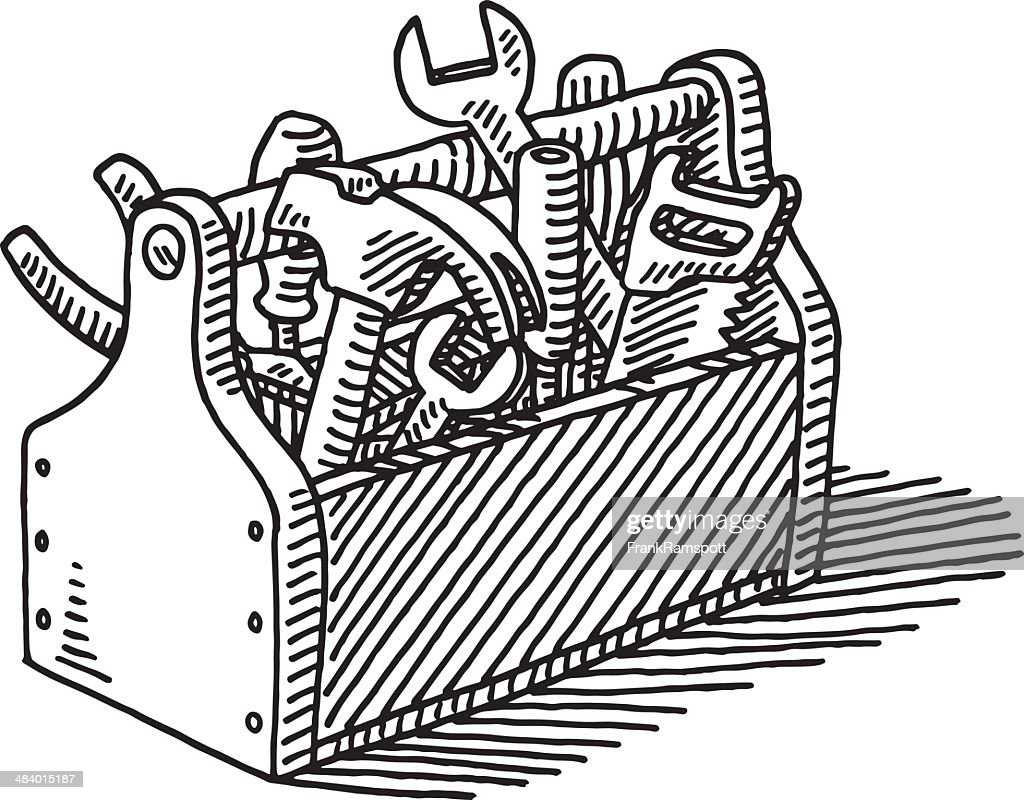 Wooden Toolbox Drawing