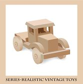 Wooden toy truck  , Series-Realistic vintage toys