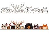 woodland animals border set