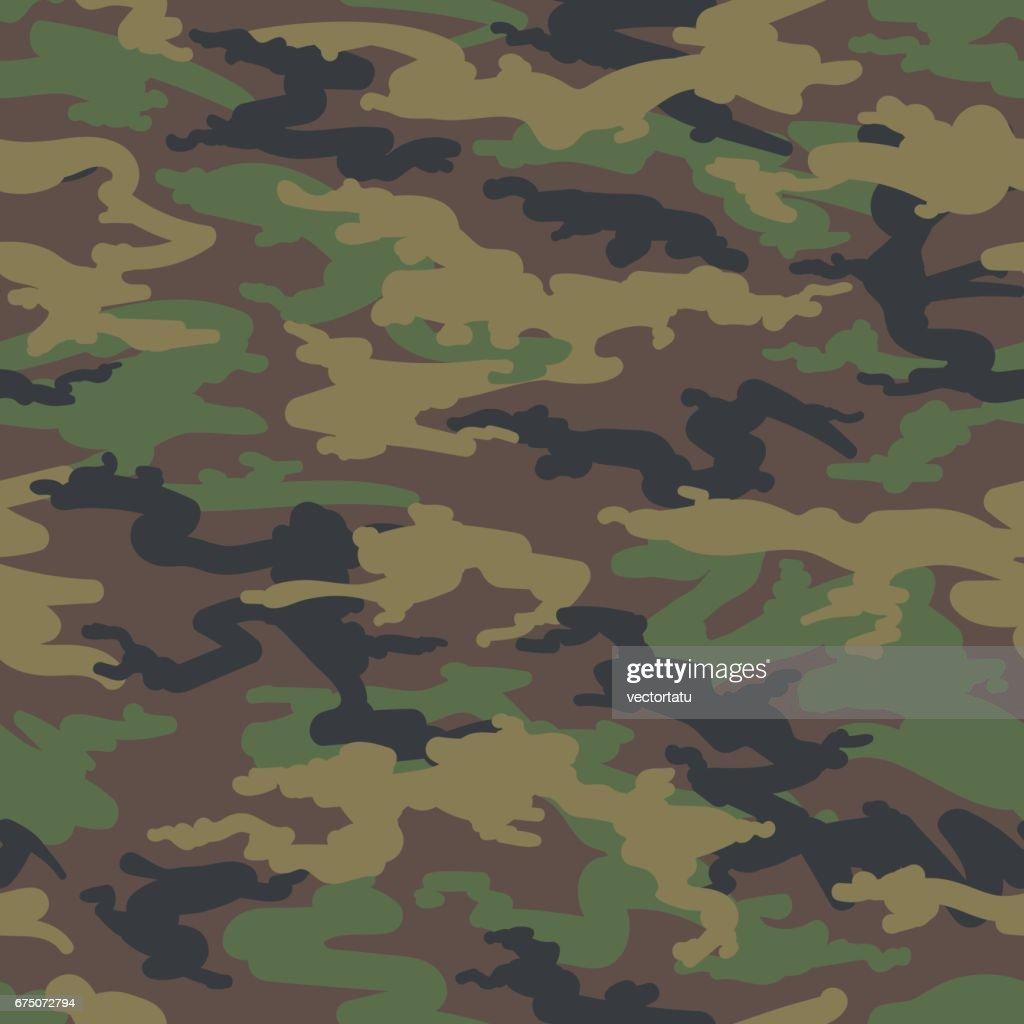 Woodland hunting camoflauge seamless pattern