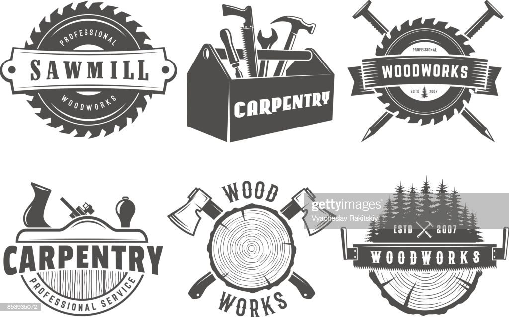 Woodwork and carpentry logos