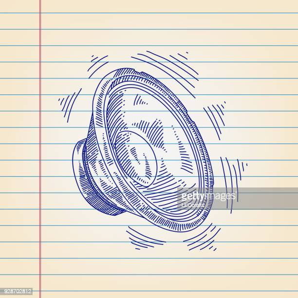 Woofer Drawing on Lined paper